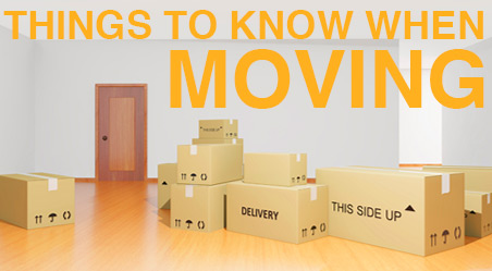 Things to know when moving
