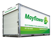 King Van and Storage Mayflower, Portable Container, full service, storage